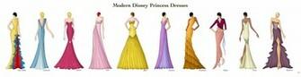 Modern Disney Princess Dresses by Ellevira