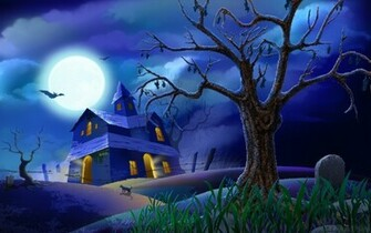 Wallpaper Halloween Scary House HD Wallpaper Animated HD Wallpaper
