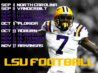 lsu lsu football wallpaper 2010 schedule tigers patrick peterson