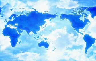 Wallpaper map clouds asia africa america wallpapers miscellanea