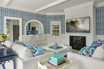 Alan Campbell Zig Zag wallpaper and Potalla pillows