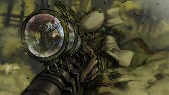 Steampunk mechanical sniper weapons guns anime wallpaper 1920x1080