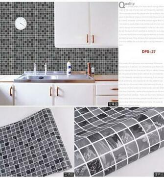 Self adhesive wallpaper for Kitchen and Bathroom ceramic tile