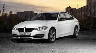 Images BMW 3 Series F30 Sedan White auto 3840x2160