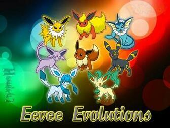 Eevee Evolutions Wallpaper by Howie62