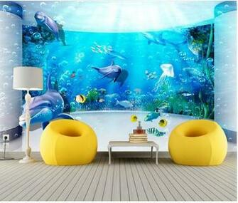 wallpaper Custom wallpaper 3D fantasy underwater world mural wall
