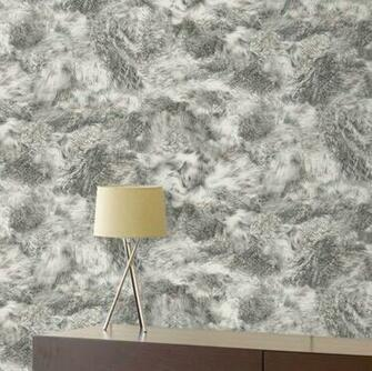 Faux Fur Wallpaper Fur Effect Wallpaper Grey Black Beige White t