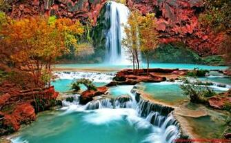 Beautiful Waterfall Screensavers Wallpaper Background Wallpapers