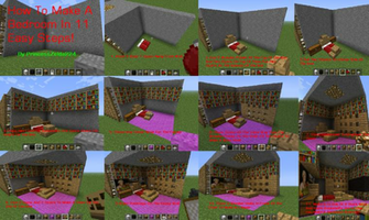 MineCraft Tutorial How To Make A Bedroom by princesszelda224 on