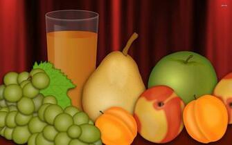 Fresh juice and fruit wallpaper   Digital Art wallpapers   1249