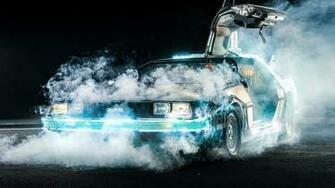 Back To The Future DeLorean Time Travel Car Movies Smoke