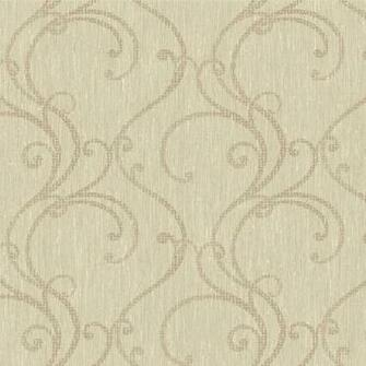 Grey and Beige Contemporary Ogee Wallpaper   Wall Sticker Outlet