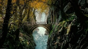 The Hobbit The Desolation of Smaug fantastic landscape wallpapers