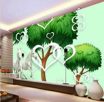 Custom wallpaper 3d stereoscopic tree murals TV backdrop living room