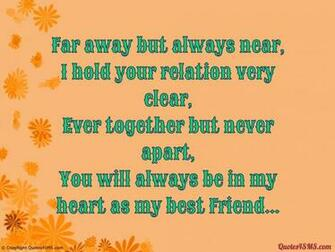You will always be in my heart as my best Friend