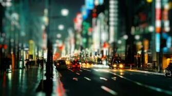 City Night Hd At Street Lights   1366x768 iWallHD   Wallpaper HD