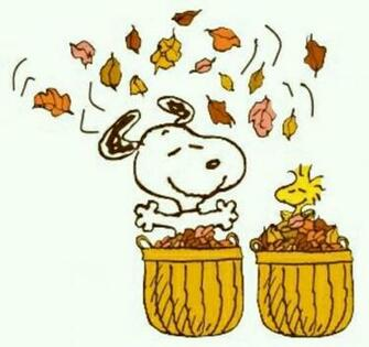 Snoopy Snoopy Fall Thanksgiving Pinterest