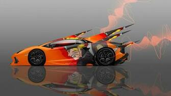 Wallpaper tony kokhan lamborghini aventador side anime naruto