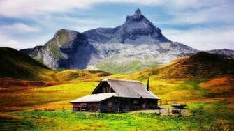 Mountain cabin wallpaper   World wallpapers   21926