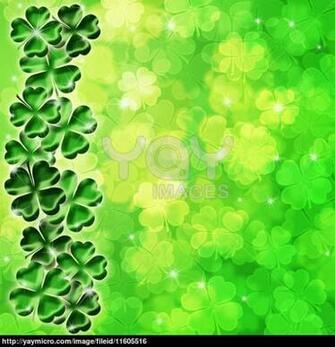 Irish Shamrock Wallpaper Lucky irish four leaf clover