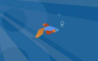 beta demo fish wallpaper 003 blue Desktop and mobile wallpaper