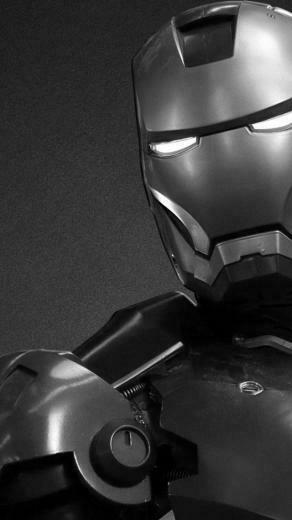 640x1136 Black and White Iron Man Iphone 5 wallpaper