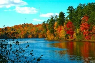 free desktop wallpaper fall on the wolf river wisconsin uploaded by