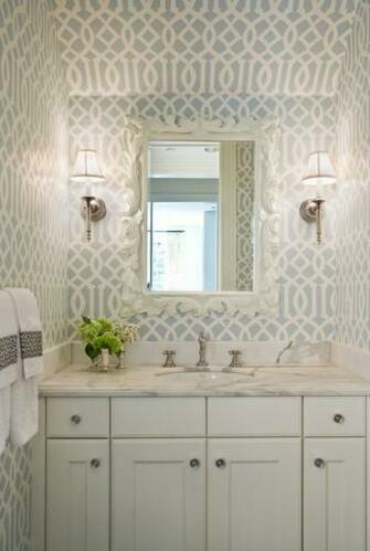 Thibaut wallpaper Bathroom Pinterest