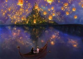 Tangled the movie Rapunzel princess fanart Flynn boat castle