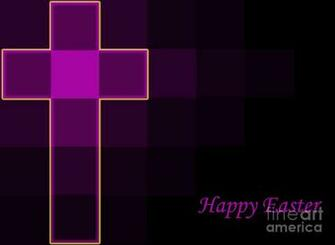 royal purple and yellow easter cross background modern design