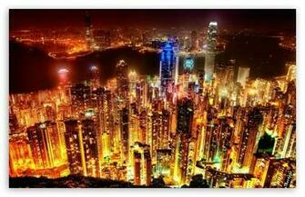 City Lights HD wallpaper for Standard 43 54 Fullscreen UXGA XGA SVGA