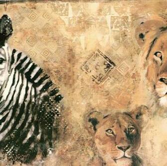 papermywallscomzebra lion wild kingdom wallpaper border fg35561b