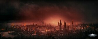 Destroyed City Landscape Destroyed city mattepainting