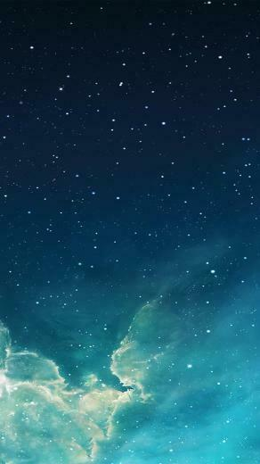 FREEIOS7 galaxy blue 7   parallax HD iPhone iPad wallpaper