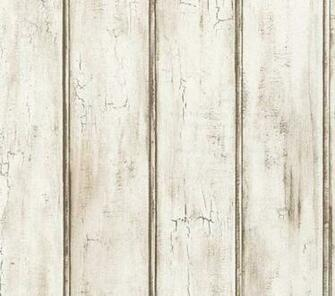 Wallpaper by The Yard Distressed White Beadboard Woodgrain Aged Rustic