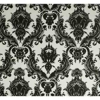 Designs Damsel Self Adhesive Black and White Temporary Wallpaper