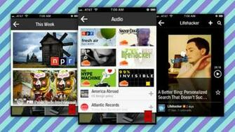 Flipboard Updates with Background Audio Player Gallery and