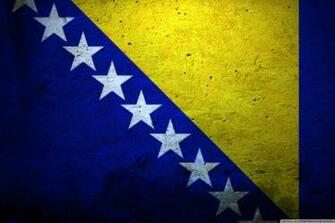 Grunge Flag Of Bosnia And Herzegovina 4K HD Desktop Wallpaper for