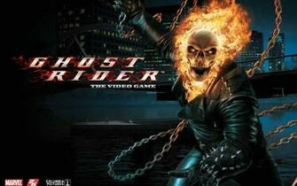 Flaming Skull   Superhero Games Wallpaper Image featuring Ghost Rider