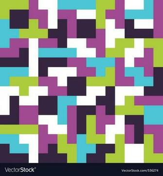 Seamless background tetris game Royalty Vector Image