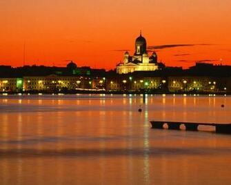 Nature orange finland helsinki twilight time of day wallpaper