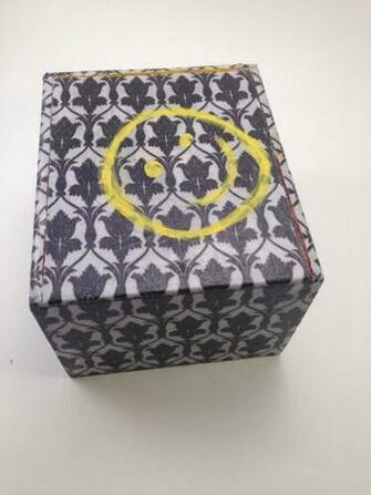 Sherlock Wallpaper UpCycled Cigar Box Treasure Chest by Lelujools 20