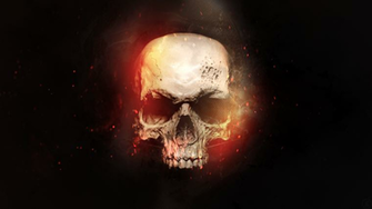 skull in flames wallpaper 1080p by foehngfx customization wallpaper