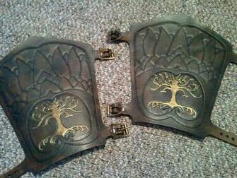 custom Tooled bracers by Skinz N Hydez