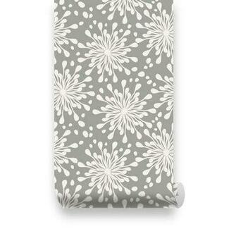 Pattern Grey Removable Wallpaper   Peel Stick Repositionable Fabric