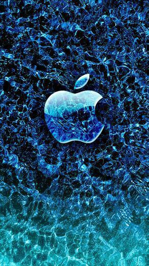 Ice Apple iPhone wallpaper