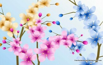 Mixed Flowers in a Pot Wallpaper   Screensavers and Backgrounds
