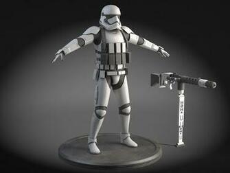 Star Wars First Order Stormtrooper Heavy 3D Model rigged max obj