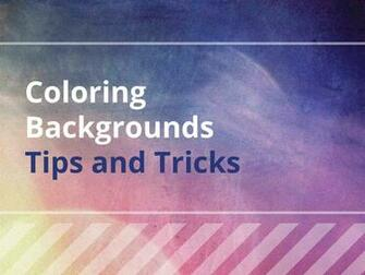 Coloring Backgrounds Tips and Tricks   The Coloring Book Club