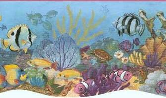 Sea Animals Border Pink Sea Life Wallpaper Border